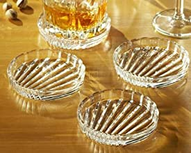 Crystal Clear Alexandria Coasters Set of 4