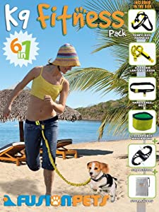K-9 Fitness Pack (Small Size) - Dog Harness, Leash & Hands Free Belt - MADE IN USA
