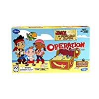 Operation Game Treasure Hunt Jake and the Neverland Pirates Edition by Hasbro Games