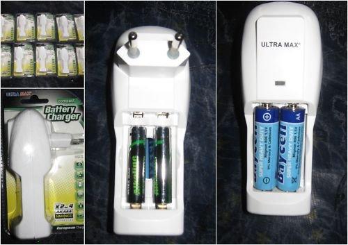 Chargeur de piles AA/AAA