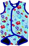Splash About Baby Wrap - Neoprene Wetsuit - Large, 18-30 Months, Fish Print Blue Binding