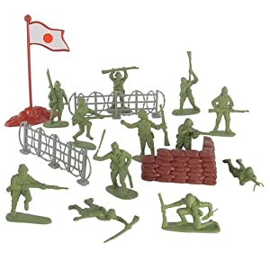 Amazon.com: Plastic Army Men Japanese Soldier Figures 38