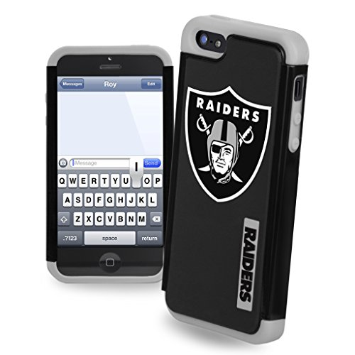 Forever Collectibles NFL Dual Hybrid iPhone 5/5S Rugged Case - OAKLAND RAIDERS