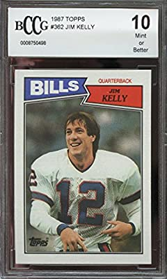 1987 topps #362 JIM KELLY buffalo bills rookie card BGS BCCG 10 Graded Card
