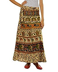 Fashiana Women's Cotton Wrap Around Skirt (FSKT86KT_Multi_)