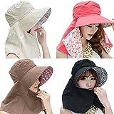 COCONUTS 日よけ帽子 日焼け防止 日よけカバー 紫外線対策 リバーシブル 綿100% ランキングお取り寄せ