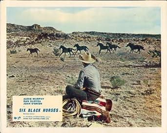 Audie Murphy Six Black Horses Original Lobby Card At