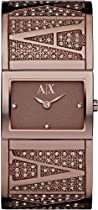 Armani Exchange Brown IP Stainless Steel Bangle Ladies Watch AX4115
