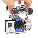 Brushless Camera Mount Gimbal w/ Motor & Controller for DJI Phantom F450 F550 X525 Gopro Hero3