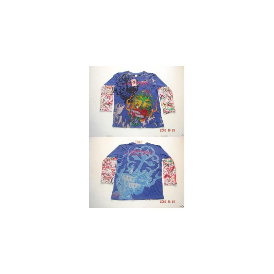 Ed Hardy By Christian Audigier Mens Long Sleeve Shirt