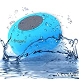 Bluetooth Shower Speaker - SoundPal Water Resistant Wireless and Hands-free Speaker Phone with Suction Cup - Compatible with All Bluetooth Devices - Works Great with Iphone and All Android Devices - Have Fun with This Speaker Indoor and Outdoor, in the Car, Pool, Shower Anywhere (Blue)