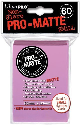 Ultra-Pro Pro-Matte Sleeves - Pink, Small - for Yu-Gi-Oh, Cardfight/CFVG (60 Deck Protectors) - 1