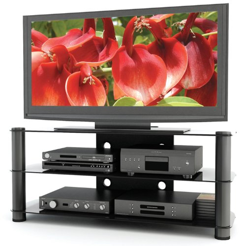 sonax ny 9504 new york 50 inch metal and glass tv stand sale duc2734. Black Bedroom Furniture Sets. Home Design Ideas