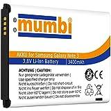 mumbi Ersatz Akku Samsung Galaxy Note 3 Ersatzakku 3400mAh (ohne NFC)