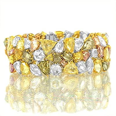 54.84Cts Mix Diamond Bracelet Set in 18K