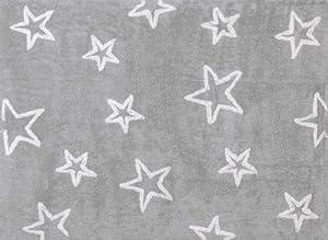Aratextil. Alfombra Infantil 100% Algodón lavable en lavadora Colección Estrella Gris 120x160 cms de Aratextil Hogar 26 S.L. en Bebe Hogar