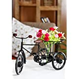 Onl;ineshoppee Rickshaw Flower Holder Fancy Gift Item House Decorative Home Decor Wooden New