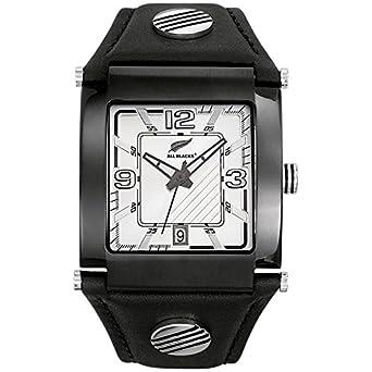 All Blacks - 680002 - Montre Homme - Quartz Analogique - Cadran Argent -  Bracelet Cuir Noir  Best Buy! 507805b107e9