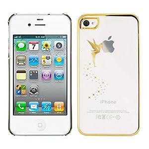 kwmobile® Crystal Case mit Fee Design für Apple iPhone 4 / 4S in Gold Transparent - Ergänzt das Design Ihres Smartphones