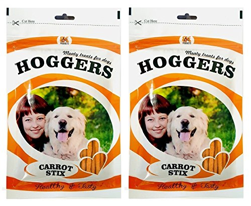 Hoggers Carrot & Chicken Dog Treats, 100 G, 2-Pack