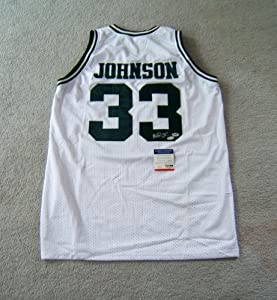 Magic Johnson Michigan State Autographed Signed Jersey - Size XL - PSA Authenticated...