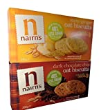 Nairn's Oat Biscuits Stem Ginger and Dark Chocolate Chip.6 Packs (3 of each).