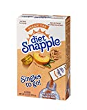 Diet Snapple Singles To Go Water Drink Mix – Peach Tea Flavored Powder Sticks (12 Boxes with 6 Packets Each – 72 Total Servings)