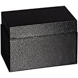 Buddy Products 3 x 5 Inch Card File, Steel, 3.375 x 3.375 x 5.5 Inches, Black (0335-4)