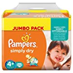 Pampers Simply Dry Gr.4+ Maxi Plus 9-...