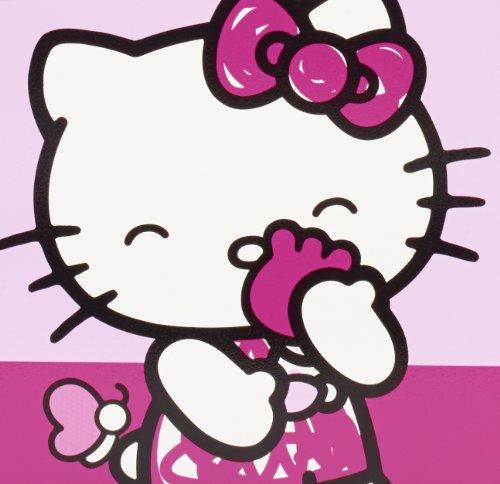 Worlds Apart 864807 Moderne Lit Bambin Hello Kitty Bois/MDF Rose 145 x 77 x 59 cm