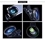 Apexel 2 in 1 Clip-on 100 Degree HD Wide Angle Lens with 37mm Thread, 12.5X Macro Lens for IOS & Android Smartphones and Pro Cameras (No Dark Circle, No Distortion)