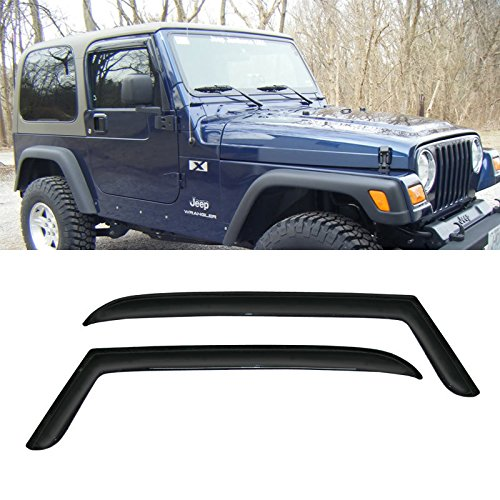 VIOJI-2pcs-Front-Door-Dark-Smoke-Outside-Mount-Style-Sun-Rain-Guard-Vent-Shade-Window-Visors-Fit-97-06-Jeep-TJ-Wrangler