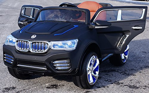 2015 Luxury Edition BMW X5 SUV Style 12v Power Wheels Remote Control Ride on Electric Toy Car for Kids -Dull Black (Bmw X5 For Kids compare prices)