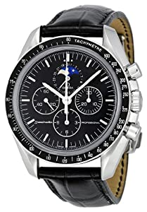 Omega Men's 3876.50.31 Speedmaster Moon Phase Black Dial Watch