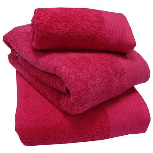 100% Egyptian Cotton Luxury Fuschia Pink 600 gsm Extra Large Bath Sheet