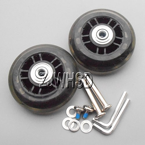"Great Deal! Luggage Suitcase Replacement Wheels OD: 70mm (2.76"") ID: 6mm (0.24"") Wide: 28m..."