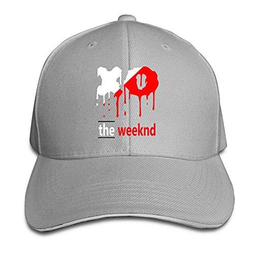 k-fly2-unisex-adjustable-xo-the-weeknd-baseball-caps-hat-one-size-ash