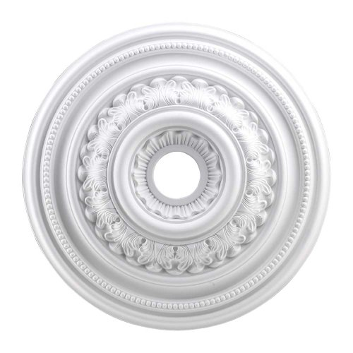 Elk Lighting M1012WH English Study Ceiling Medallion, 24-Inch,  White Finish
