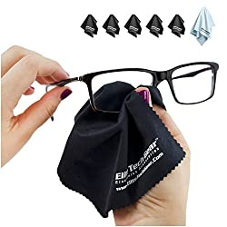 (6-Pack) Microfiber Cleaning Cloths - For Electronic, Camera, Vehicle, Accessories - Use for Cell Phone, Lens, Video, Eyeglasses, Headphone, Projector, Binocular, Telescope Cleaners - Great For Computer, Monitor or Laptop Screens and Protectors and a Must