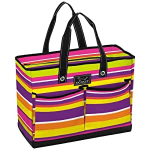 SCOUT The BJ Bag Multi-Pocket Zip-Top Tote, 18.5 by 14 by 8.5-Inches,One Size,Fruit Stripe