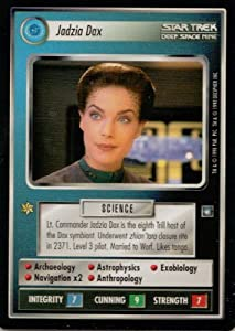Jadzia Dax Card Star Trek Deep Space Nine Collectible Card Game (CCG) Rare Federation Personnel Card