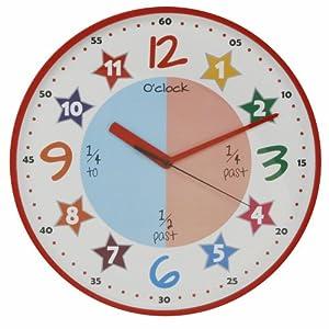 hometime w7502 horloge murale color e contour rouge diam tre 30cm cuisine. Black Bedroom Furniture Sets. Home Design Ideas