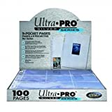 Ultra Pro Silver Series 100/9 Pocket Page Protectors
