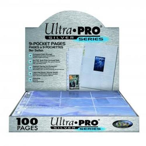 Ultra Pro Silver Series 100 9 Pocket Page Protectors