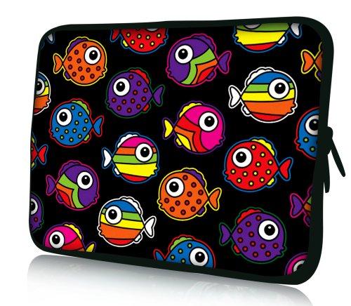 Luxburg® Design borsa per portatile Notebook 14,2 pollici, motivo: Pesci colorati