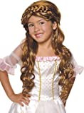 Brown Long Wig with Braid On Top - Child Std.