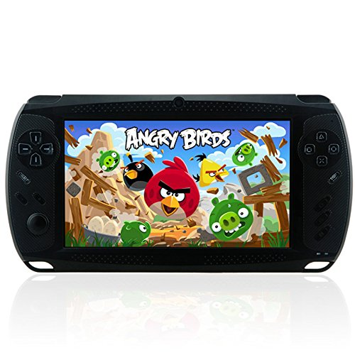Megafeis G810 7 Inch 8GB 1080P Android Handheld Portable Game Console Tablet PC Dual-Camera MP3/MP4/MP5 Media Player PSP Style Wifi HDMI (Black) New Year Christmas Thanksgiving Day best gift present for children