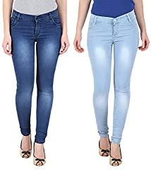 NGT Women's Royal Blue And Sky Blue Jeans