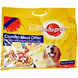 Pedigree Dry Adult Dog Food, Chicken And Vegetable, 3 Kg With Dog Food, Gravy Chicken And Liver Chunks, 320 G (Pack Of 4)