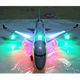Musical Airbus Aero Plane Bump & Go With Sound LED Light Gift Toy For Kids